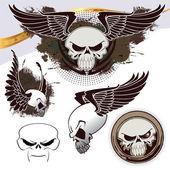 Skull set — Stock Vector