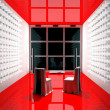 red tv room — Stock Photo