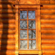 Old wooden church window — Stock Photo