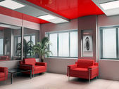 Modern offise in red — Stock Photo