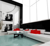 White drawing room — Stock Photo