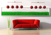 Red furniture — Stock Photo