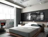 Schlafzimmer morgens — Stockfoto