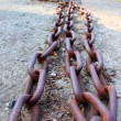 Metal rusty chain — Stock Photo