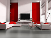 Tv room — Stock Photo