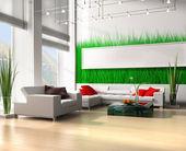 White sofa — Stock Photo