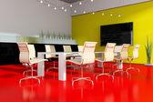 现代室内空间会议 — 图库照片