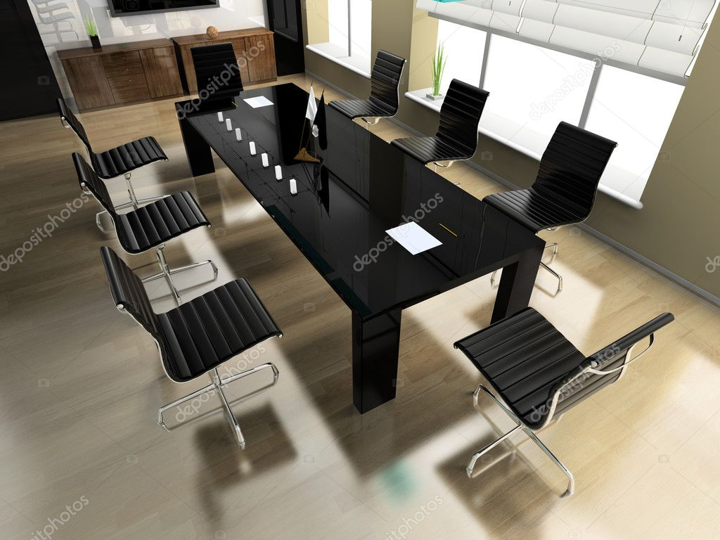 The modern interior of office 3d image — Stock Photo #2222774