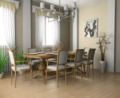 Restaurant a room in the house — Stock Photo
