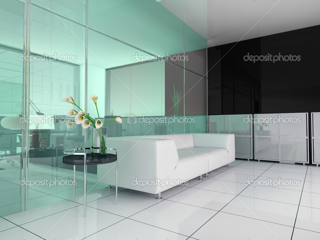 Modern interior office place for rest 3d image — Stock Photo #2480690