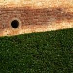 Round window on a brick wall — Stock Photo #2199294