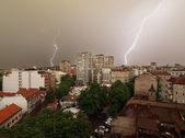 Daylight lightning storm — Stockfoto