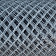 Roll of Wire fence - Stock Photo