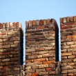 Fortified brick  wall - Stockfoto