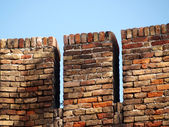 Fortified brick wall — Stock Photo