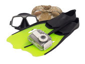 Ready for underwater photography — Stock Photo