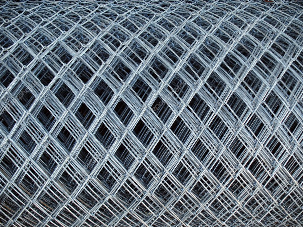 roll of gray steel Chicken Wire fence — Stock Photo #2208215