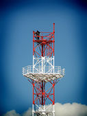 Rigging the telecommunication tower — Stock Photo