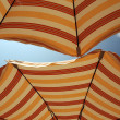 Stock Photo: Two parasol directly above
