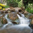 Japanese garden waterfall — Stock Photo