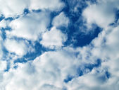 Fluffy cumulus clouds — Stock Photo