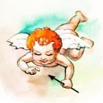 Small cupid with arrow — Stock Photo