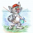 Fisherman cat — Stock Photo