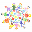Children unity — Stock Photo
