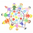 Children unity - Stock Photo