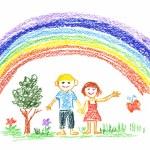 Summer rainbow — Stock Photo