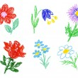 Flowers icons — Stock Photo