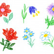 Stock Photo: Flowers icons