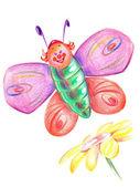Merry butterfly — Stok fotoğraf