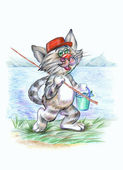 Fisherman cat — Stock Photo