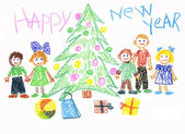 Children celebrate New Year — Stock Photo