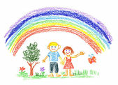 Summer rainbow — Stock Photo