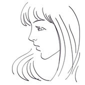 Beautiful woman sketch — Stock Photo