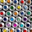 Aerial view of aerosol cans — Stock Photo #2194178