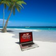 Computer on the beach — Stock Photo #2194691