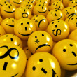Emoticons background — Stock Photo