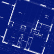 Stock Photo: Appartment Blueprints