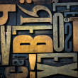 Background of vintage wooden letters — 图库照片 #2196160