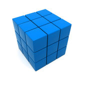 Blue cubic structure — Stock Photo