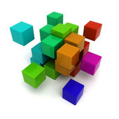 Colorful cubic background — Stock Photo