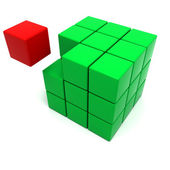 Cube Missing piece — Stock Photo