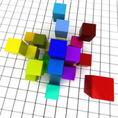 Cubes and squares — Stock Photo