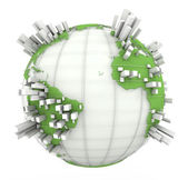 Earth Graph in white and green — Stock Photo