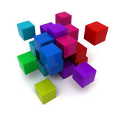 Multicolored cubic background — Stock Photo