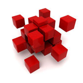 Red cubic background — Stock Photo