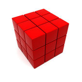 Red cubic structure — Stock Photo
